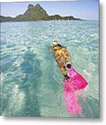 Snorkeling In Polynesia Metal Print