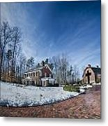 Snow Around Billy Graham Library After Winter Storm Metal Print