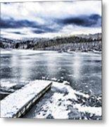 Snow Big Ditch Lake Metal Print by Thomas R Fletcher