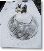 Snow Fall Serie December 2012  Metal Print