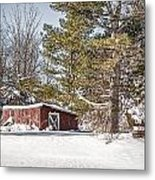 Snow In The Country Metal Print