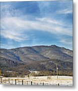 Snowy High Peak Mountain Metal Print