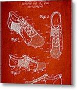 Soccershoe Patent From 1980 Metal Print