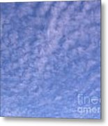 Soft Clouds In The Blue Sky Metal Print