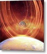 Solar Flare Hitting Earth Metal Print