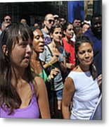 Some Young Ladies Enjoying The 2009 Cleansing Of 46th Street Metal Print