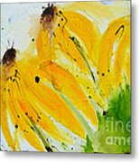 Sonnenhut -  Floral Painting  Metal Print by Ismeta Gruenwald
