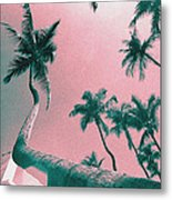 South Beach Miami Tropical Art Deco Wide Palms Metal Print