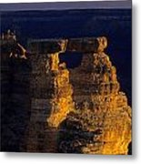 South Rim Grand Canyon Taken Near Mather Point Sunrise Light On  Metal Print