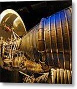 Space Rocket Thrust Engine Metal Print
