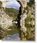 Spain. Gerona. Garrotxa. Bridge Metal Print