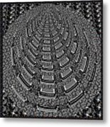 Sparkle Bnw White Pyramid Dome Ancient Arch Architecture Formation Obtained During Deep Meditation W Metal Print