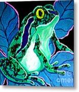 Speckled Frog Metal Print