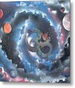Spiral Galaxy Om Metal Print