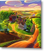 Spring on the Farm Metal Print