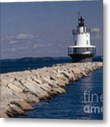 Spring Point Ledge Lighthouse Metal Print