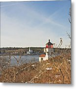 Squirrel Point Lighthouse Kennebec River Maine Metal Print