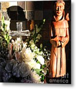 St. Francis Of Assisi By George Wood Metal Print