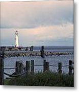St. Ignace Light Metal Print