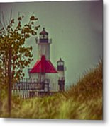 St. Joseph North Pier Lighthouse Lake Michigan. Metal Print