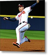 St. Louis Cardinals V Atlanta Braves 1 Metal Print