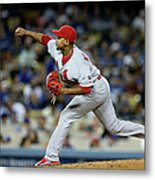 St Louis Cardinals V Los Angeles Dodgers Metal Print