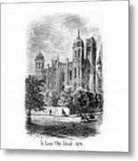 St. Louis High School - 1874 Metal Print