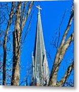 St. Marys Church Steeple Of St Marys Church Metal Print