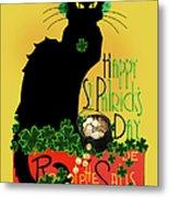 St Patrick's Day - Le Chat Noir Metal Print
