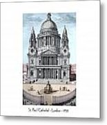 St. Paul Cathedral - London - 1792 Metal Print
