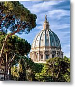 St Peters Basilica Dome Metal Print