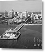 St Petersburg Skyline And Pier Metal Print