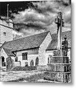 St Sannans Church Bedwellty 2 Mono Metal Print