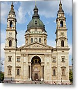 St. Stephen's Basilica In Budapest Metal Print