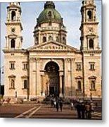 St Stephen's Basilica In Budapest Metal Print