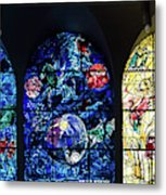 Stained Glass Chagall Windows Metal Print