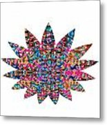 Star Ufo U.f.o. Sprinkled Crystal Stone Graphic Decorations Navinjoshi  Rights Managed Images Graphi Metal Print