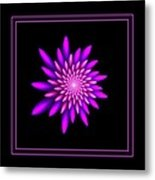 Starburst-32 Framed Black And Pink Metal Print