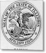 State Seal Illinois Metal Print