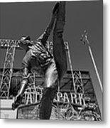 Statue Of Juan Marichal Outside Atandt Park San Francisco Metal Print