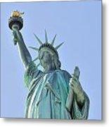 Statue Of Liberty Closeup  In New York City Manhattan Metal Print by Songquan Deng