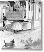 Steam Carriage, 1832 Metal Print