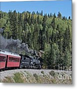 Steam Engine 488 At Osier On The Cumbres And Toltec Scenic Railroad Metal Print