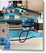 Stepper Motor On Industrial Machine Metal Print