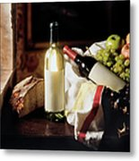 Still Life With Two Wine Bottles Metal Print