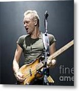 Sting Of The Police  Metal Print