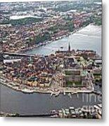 Stockholm Aerial View Metal Print by Lars Ruecker