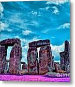 Stonehenge In The English County Of Wiltshire Metal Print