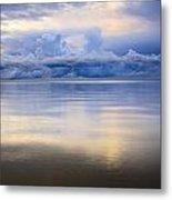 Storm Clouds And Lake Winnipeg At Metal Print