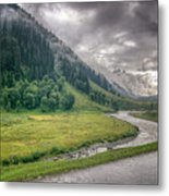 storm clouds over mountains of ladakh Jammu and Kashmir India Metal Print